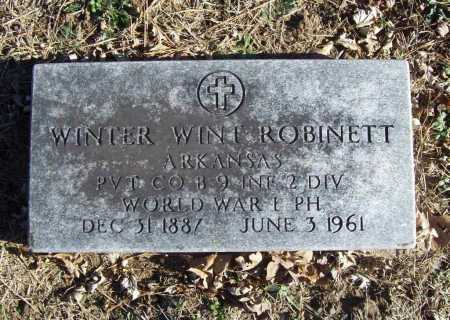 ROBINETT (VETERAN WWI), WINTER WINT - Benton County, Arkansas | WINTER WINT ROBINETT (VETERAN WWI) - Arkansas Gravestone Photos