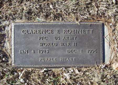 ROBINETT (VETERAN WWII), CLARENCE E - Benton County, Arkansas | CLARENCE E ROBINETT (VETERAN WWII) - Arkansas Gravestone Photos