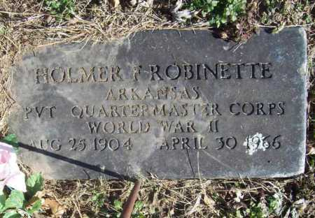 ROBINETTE (VETERAN WWII), HOLMER F - Benton County, Arkansas | HOLMER F ROBINETTE (VETERAN WWII) - Arkansas Gravestone Photos
