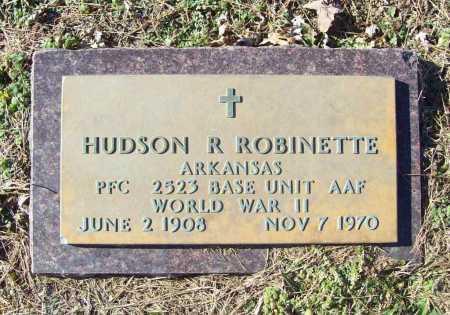 ROBINETTE (VETERAN WWII), HUDSON R - Benton County, Arkansas | HUDSON R ROBINETTE (VETERAN WWII) - Arkansas Gravestone Photos