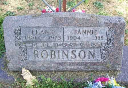 ROBINSON, FANNIE - Benton County, Arkansas | FANNIE ROBINSON - Arkansas Gravestone Photos