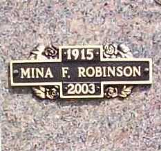 ROBINSON, MINA F. - Benton County, Arkansas | MINA F. ROBINSON - Arkansas Gravestone Photos