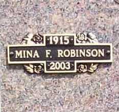 ROBINSON, MINA F - Benton County, Arkansas | MINA F ROBINSON - Arkansas Gravestone Photos