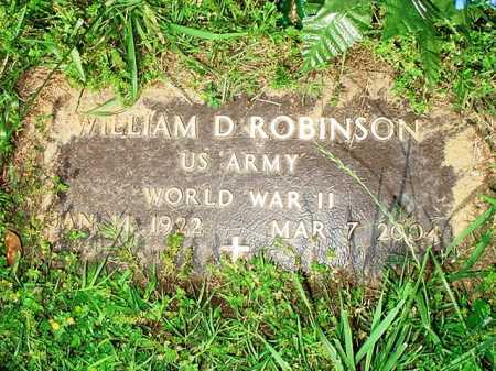 ROBINSON (VETERAN WWII), WILLIAM D. - Benton County, Arkansas | WILLIAM D. ROBINSON (VETERAN WWII) - Arkansas Gravestone Photos