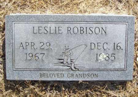 ROBISON, LESLIE - Benton County, Arkansas | LESLIE ROBISON - Arkansas Gravestone Photos