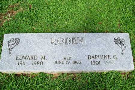 RODEN, EDWARD M. - Benton County, Arkansas | EDWARD M. RODEN - Arkansas Gravestone Photos