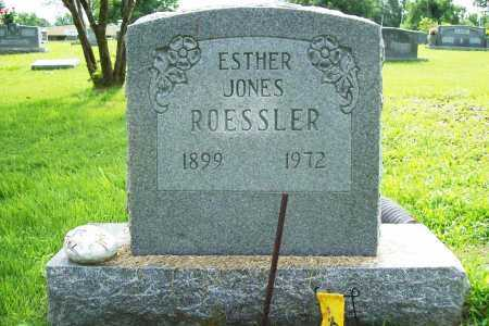 JONES ROESSLER, ESTHER - Benton County, Arkansas | ESTHER JONES ROESSLER - Arkansas Gravestone Photos