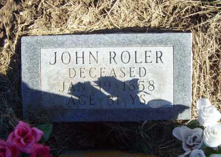 ROLER, JOHN (2) - Benton County, Arkansas | JOHN (2) ROLER - Arkansas Gravestone Photos