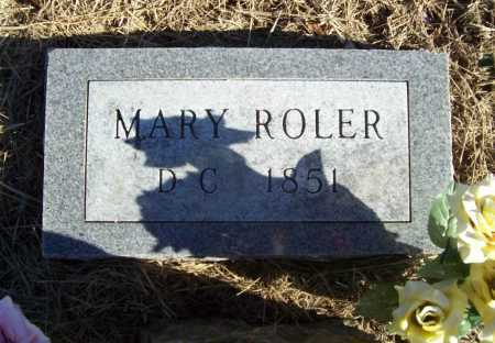 ROLER, MARY (2) - Benton County, Arkansas | MARY (2) ROLER - Arkansas Gravestone Photos