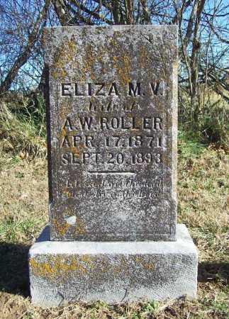 ROLLER, ELIZA M. V. - Benton County, Arkansas | ELIZA M. V. ROLLER - Arkansas Gravestone Photos