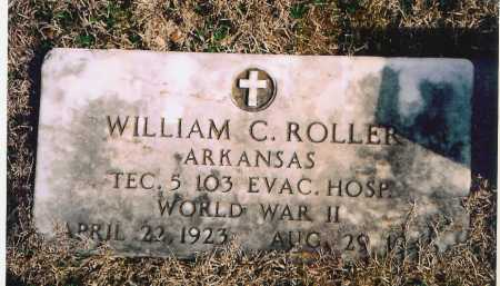 ROLLER (VETERAN WWII), WILLIAM C. - Benton County, Arkansas | WILLIAM C. ROLLER (VETERAN WWII) - Arkansas Gravestone Photos
