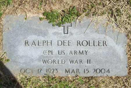 ROLLER (VETERAN WWII), RALPH DEE - Benton County, Arkansas | RALPH DEE ROLLER (VETERAN WWII) - Arkansas Gravestone Photos