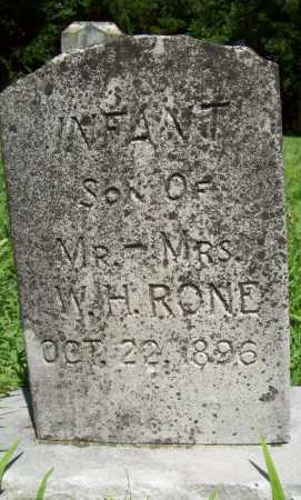 RONE, INFANT SON - Benton County, Arkansas | INFANT SON RONE - Arkansas Gravestone Photos