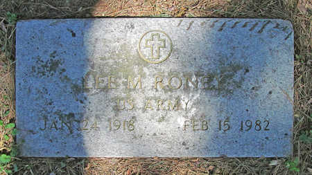 RONEY (VETERAN), LEE M - Benton County, Arkansas | LEE M RONEY (VETERAN) - Arkansas Gravestone Photos