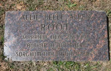 ROOT, ALLIE BELLE (2) - Benton County, Arkansas | ALLIE BELLE (2) ROOT - Arkansas Gravestone Photos