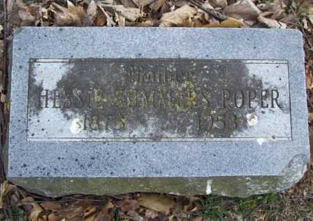SUMMERS ROPER, HESSIE - Benton County, Arkansas | HESSIE SUMMERS ROPER - Arkansas Gravestone Photos