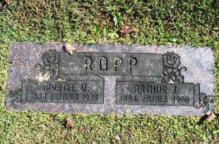 ROPP, ARTHUR J. - Benton County, Arkansas | ARTHUR J. ROPP - Arkansas Gravestone Photos
