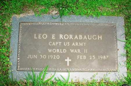 RORABAUGH (VETERAN WWII), LEO E. - Benton County, Arkansas | LEO E. RORABAUGH (VETERAN WWII) - Arkansas Gravestone Photos