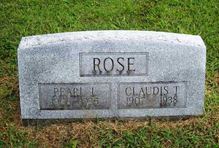 ROSE, CLAUDIS T. - Benton County, Arkansas | CLAUDIS T. ROSE - Arkansas Gravestone Photos
