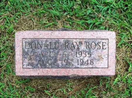 ROSE, DONALD RAY - Benton County, Arkansas | DONALD RAY ROSE - Arkansas Gravestone Photos