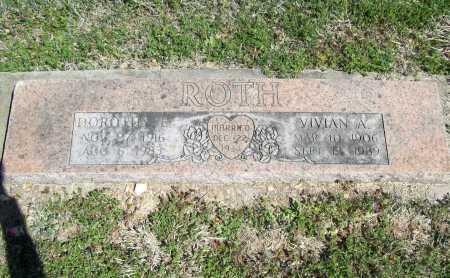 ROTH, VIVIAN A. - Benton County, Arkansas | VIVIAN A. ROTH - Arkansas Gravestone Photos