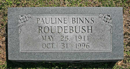 BINNS ROUDEBUSH, PAULINE - Benton County, Arkansas | PAULINE BINNS ROUDEBUSH - Arkansas Gravestone Photos