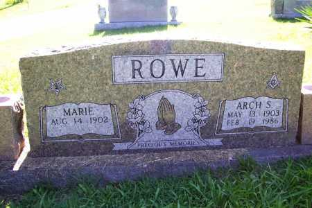 ROWE, ARCH S. - Benton County, Arkansas | ARCH S. ROWE - Arkansas Gravestone Photos