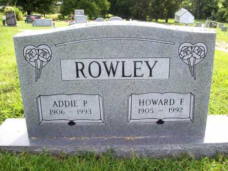 ROWLEY, HOWARD F. - Benton County, Arkansas | HOWARD F. ROWLEY - Arkansas Gravestone Photos