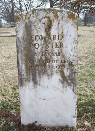 ROYSTER (VETERAN), EDWARD - Benton County, Arkansas | EDWARD ROYSTER (VETERAN) - Arkansas Gravestone Photos
