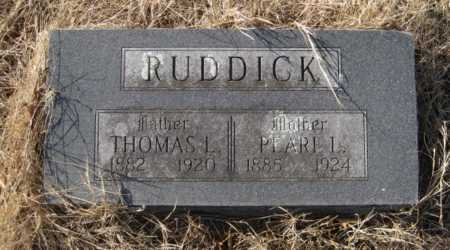 RUDDICK, THOMAS L - Benton County, Arkansas | THOMAS L RUDDICK - Arkansas Gravestone Photos