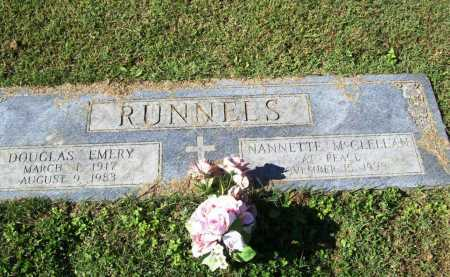 RUNNELS, DOUGLAS EMERY - Benton County, Arkansas | DOUGLAS EMERY RUNNELS - Arkansas Gravestone Photos