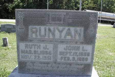 RUNYAN, JOHN L. - Benton County, Arkansas | JOHN L. RUNYAN - Arkansas Gravestone Photos