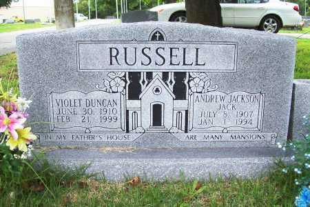 "RUSSELL, ANDREW JACKSON 'JACK"" - Benton County, Arkansas | ANDREW JACKSON 'JACK"" RUSSELL - Arkansas Gravestone Photos"