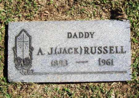 RUSSELL, A. J. (JACK) - Benton County, Arkansas | A. J. (JACK) RUSSELL - Arkansas Gravestone Photos