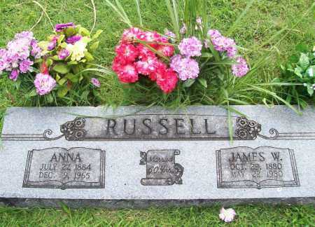 RUSSELL, JAMES W. - Benton County, Arkansas | JAMES W. RUSSELL - Arkansas Gravestone Photos