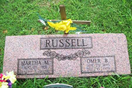 RUSSELL, MARTHA M. - Benton County, Arkansas | MARTHA M. RUSSELL - Arkansas Gravestone Photos