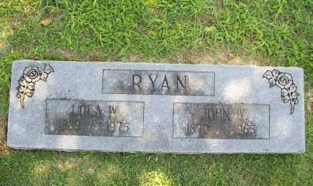 RYAN, LOLA W. - Benton County, Arkansas | LOLA W. RYAN - Arkansas Gravestone Photos