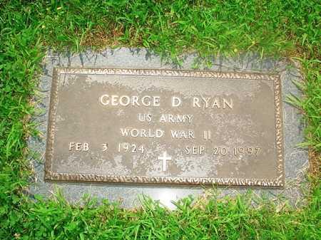 RYAN (VETERAN WWII), GEORGE D. - Benton County, Arkansas | GEORGE D. RYAN (VETERAN WWII) - Arkansas Gravestone Photos