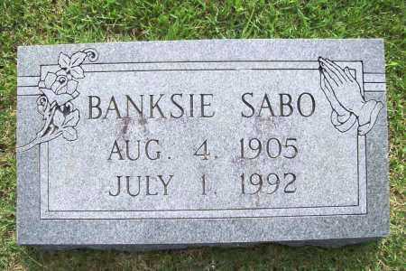 SABO, BANKSIE - Benton County, Arkansas | BANKSIE SABO - Arkansas Gravestone Photos