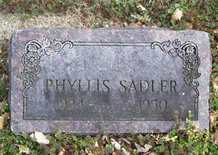 SADLER, PHYLLIS - Benton County, Arkansas | PHYLLIS SADLER - Arkansas Gravestone Photos