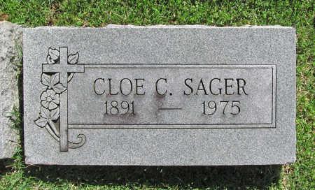 SAGER, CLOE CLAUDE - Benton County, Arkansas | CLOE CLAUDE SAGER - Arkansas Gravestone Photos