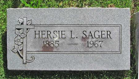 SAGER, HERSIE L - Benton County, Arkansas   HERSIE L SAGER - Arkansas Gravestone Photos