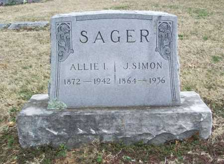 SAGER, ALLIE I. - Benton County, Arkansas | ALLIE I. SAGER - Arkansas Gravestone Photos