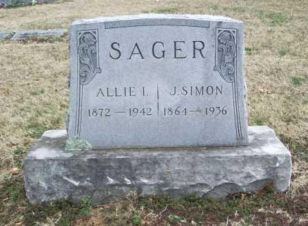 SAGER, J. SIMON - Benton County, Arkansas | J. SIMON SAGER - Arkansas Gravestone Photos