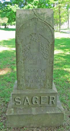SAGER, MACY M - Benton County, Arkansas | MACY M SAGER - Arkansas Gravestone Photos