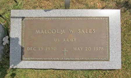 SALES (VETERAN), MALCOLM W - Benton County, Arkansas | MALCOLM W SALES (VETERAN) - Arkansas Gravestone Photos
