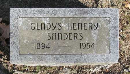 SANDERS, GLADYS HENERY - Benton County, Arkansas | GLADYS HENERY SANDERS - Arkansas Gravestone Photos