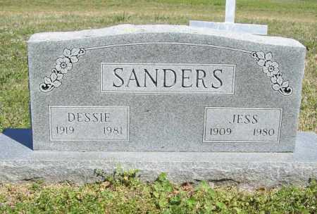SANDERS, JESS - Benton County, Arkansas | JESS SANDERS - Arkansas Gravestone Photos