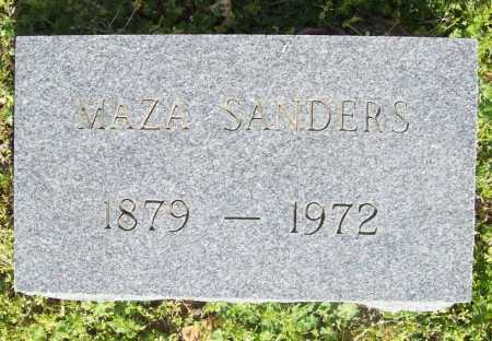 SANDERS, MAZA - Benton County, Arkansas | MAZA SANDERS - Arkansas Gravestone Photos