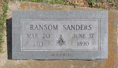 SANDERS, RANSOM - Benton County, Arkansas | RANSOM SANDERS - Arkansas Gravestone Photos